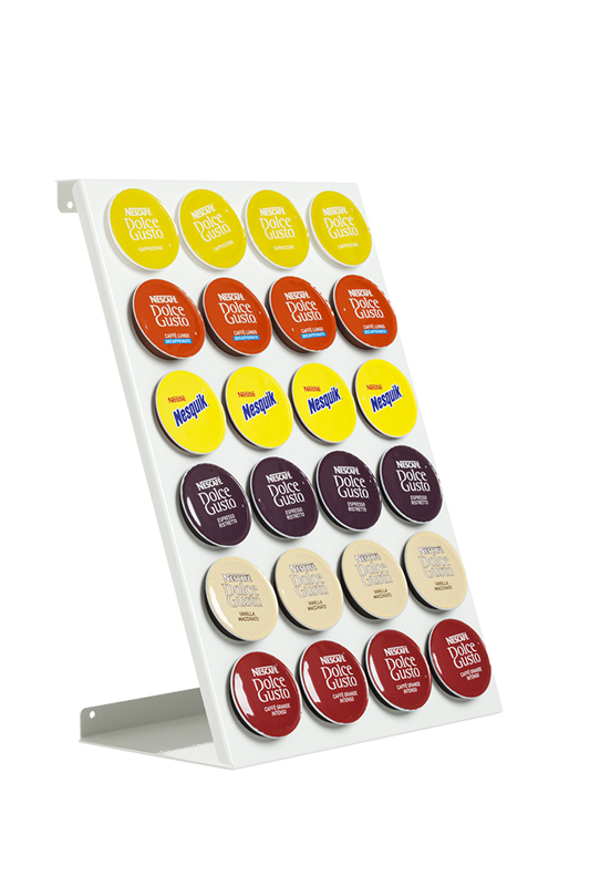 porte dosettes distributeur de capsules dolce gusto coffeerack dg24 blanc ebay. Black Bedroom Furniture Sets. Home Design Ideas
