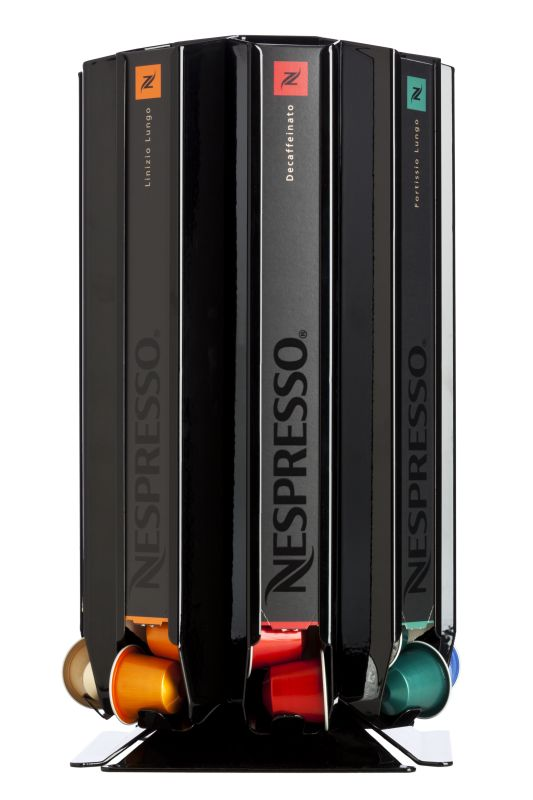 Porte dosettes Distributeur capsules Nespresso CoffeeTower Box N80 noir brillant