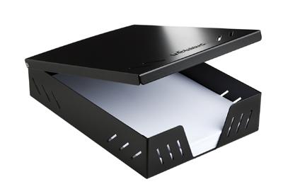 Döring Papier Aufbewahrungsbox für DIN A4 500 Blatt Schwarz