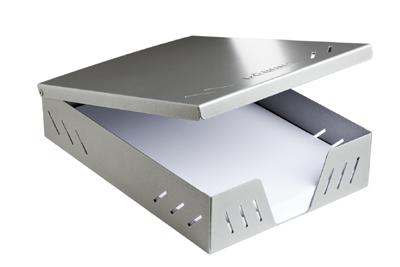 Döring Papier Aufbewahrungsbox DIN A4 500 Blatt Silber